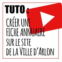 NOUVEAU : Créez une fiche annuaire sur le site de la Ville d'Arlon