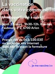 La vaccimobile à Arlon le jeudi 23 septembre