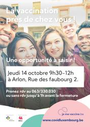 La Vaccimobile marquera un nouvel arrêt le 14 octobre prochain à Arlon