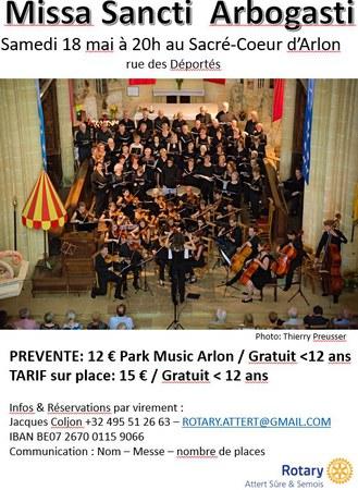 Concert Annuel du Rotary Attert, Sûre et Semois
