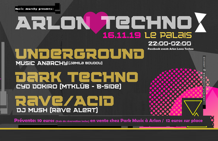 Music Anarchy presents: Arlon Loves Techno