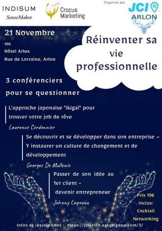 Réinventer Sa Vie Professionnelle - JCI Arlon - 21/11/2019