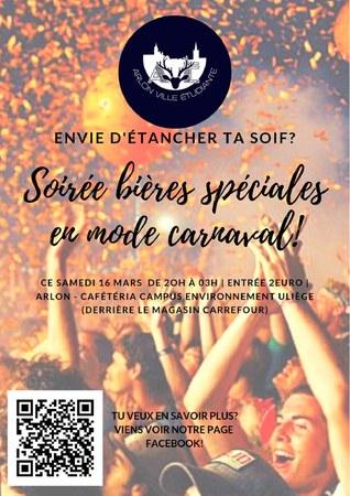Soirée bières spéciales - Carnaval