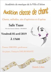 Audition classe de chant