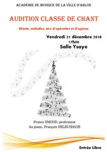 Audition Classe de Chant de France EMOND