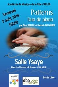"Concert  ""Patterns"" duo de piano"