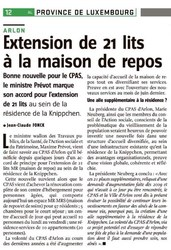 Extension de 21 lits